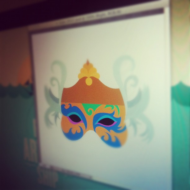 Carnival Mask - Flat Colors